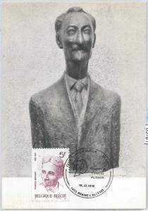 63761 - BELGIUM - POSTAL HISTORY: MAXIMUM CARD 1976   LITERATURE Charles Bernard