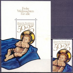 Germany. 1978. bl17. Christmas. MNH.