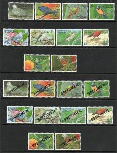 Saint Vincent - SG# 694 - 703 MNH + Specimens/ Birds - Lot 0120218