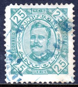 Angola - Scott #29c - Used - Toning, rounded corner UL - SCV $3.75
