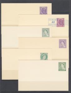 Canada Uni UX80/UX103 unused. 1938-1967 Postal cards, 11 different, VF group