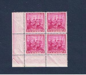 #836 MVFNH OG margin block of 4 Swedes & Finns  Free S/H