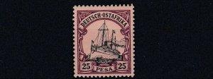 GERMAN EAST AFRICA  1901  S G 21  25P  BLACK &  PURPLE     MNH