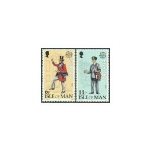 Isle of Man 152-153 two sets,MNH. Michel 142-143. EUROPA CEPT-1979. Mailman.
