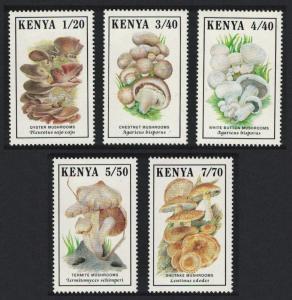Kenya Mushrooms Fungi 5v SG#506-510