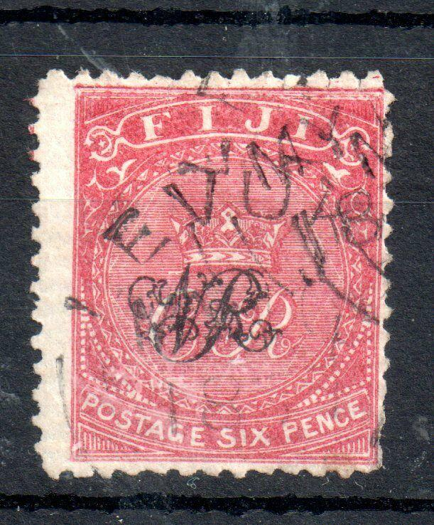 Fiji 1876-77 6d rose fine used SG#33 WS13867