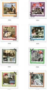 Isle of Man Sc 1415-22 2011 Genealogy stamp set used