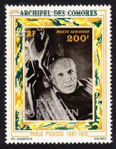 Comoro Is. Overprint 'Etat Comorien' on 200 Fr Picasso SC#C87 MI#209