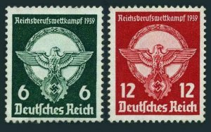 Germany 490-491,MNH.Michel 689-690. Young Workers Competitions,1939.