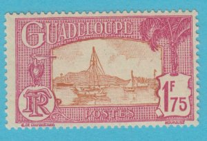 GUADELOUPE 129  MINT HINGED OG *NO FAULTS VERY  FINE !