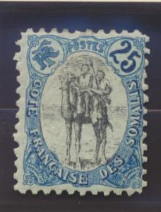 Somali Coast (Djibouti) Stamp Scott #41a, Mint Hinged - Free U.S. Shipping, F...