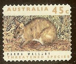 Australia 1241 45c Threatened Species Parma Wallaby 1992 u