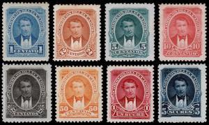 Ecuador Scott 47-54 (1895) Mint H F-VF Complete Set, CV $30.40 B