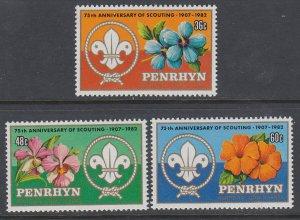 Penrhyn Island 215-217 Boy Scouts MNH VF