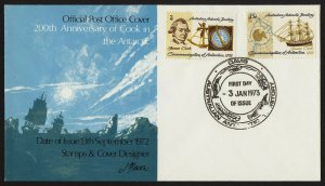 wc003 Australian Antarctic Territory James Cook 200th Anniv. FDC Jan 3 1973