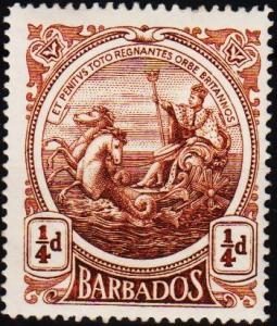 Barbados. 1916 1/4d S.G.181 Mounted Mint