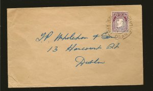 Ireland 108 on Postmarked 1957 Cover Used