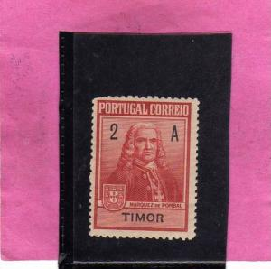 TIMOR PORTUGAL 1925 MARQUEZ DE POMBAL POSTAL TAX  - MARCHESE DI POMBAL MNH