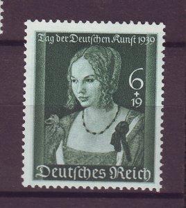 J25380 JLstamps 1939 nazi germany set of 1 mh #b146 woman