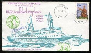 p727 - FINLAND 1969 Launching of Arctic Cruise Ship MV Lindblad Explorer. Polar