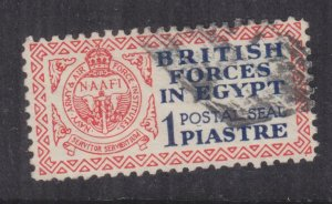 BRITISH FORCES IN EGYPT, 1932 POSTAL SEAL, 1p. Blue & Red, used.