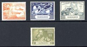 Barbados 212-215 MH 1949 UPU
