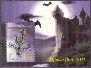 Bosnia / Croatian Post 2011 Flora Mythology Bats MNH