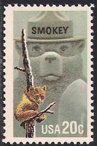 #2096 20 cent Smokey Bear mint OG NH F-VF
