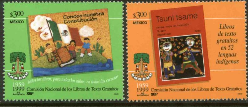 MEXICO 2155-2156, Free Textbook. MINT, NH. VF.  (69)