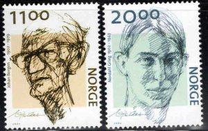 Norway Scott 1336-1338 Author Caricature  set