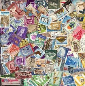 Egypt Stamp Collection - 300 Different Stamps