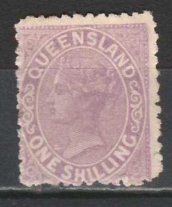 QUEENSLAND 1895 QV 1/- THICK PAPER