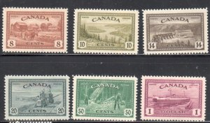 Canada #268 to 273 VF MINT OG LH SET C$100.00
