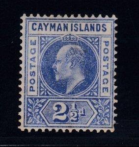 Cayman Islands, SG 10 var, MHR Slotted Frame variety