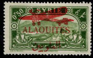 Alaouites Scott C17 MH* 1929 Airmail overprint stamp paper adhesion