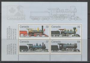 CANADA SGMS1136 1984 RAILWAY LOCOMOTIVES MNH