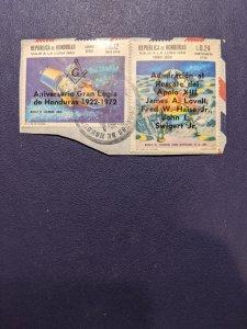 Honduras C502, C458 VF on paper, CV $1.75