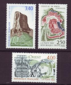 J20246  jlstamps 1992 france set mnh #2291,92,93 viewsl
