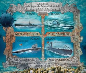 Mozambique 2013 WWII SUBMARINES s/s Perforated Mint (NH)