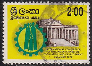 Sri Lanka 560 Used 1979 Family in Cogwheel, Parliament