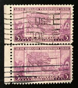 783 Oregon, Circulated Pair, Vic's Stamp Stash