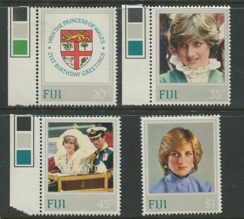 Fiji - Scott 470-473 - Lady Diana Issue 1982- MNH -  Set of 4 Stamps