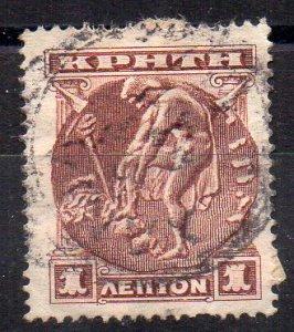 CRETA - CRETE - 1900 - 1 - HERMES - Used -