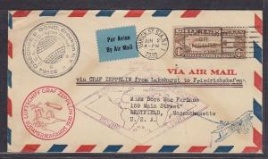 C14 on cover Lakehurst to Friedrichshafen Germany Jun 2 1930 Nice ! see pic !