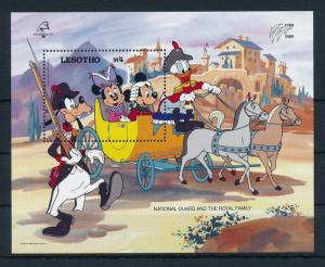 [22307] Lesotho 1989 Disney Mickey Minnie Donald Goofy France Revolution MNH