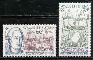 Wallis and Futuna Islands 274-5 1981 American Revolution set MNH