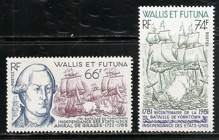 Wallis and Futuna Islands 274-5 1981 American Revolution set MNH