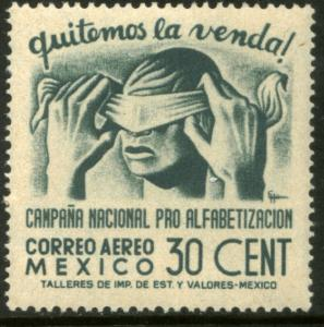 MEXICO C153, 30cents Blindfold, Literacy Campaign MINT, NH. F-VF.