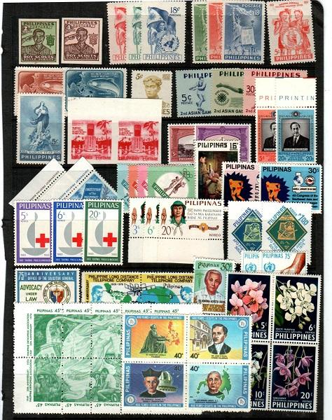 Philippines lot of NH sets (Catalog Value $61.35) - [TC941]
