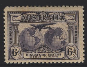 Australia Sc#C2 MNH - Re-entry variety - tanned gum